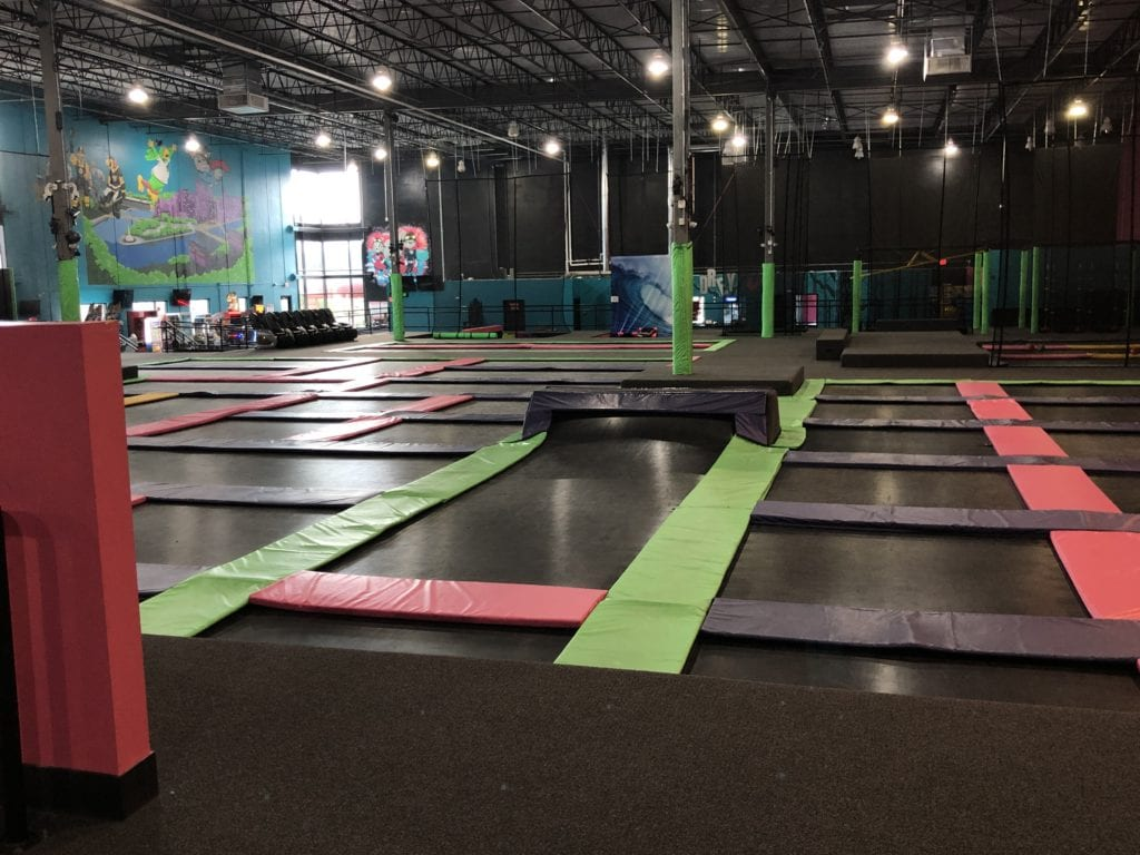 flying squirrel trampolines with safe boarders